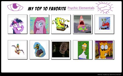 My Top 10 Favorite Psychic Elementals By Littledoegiuli95