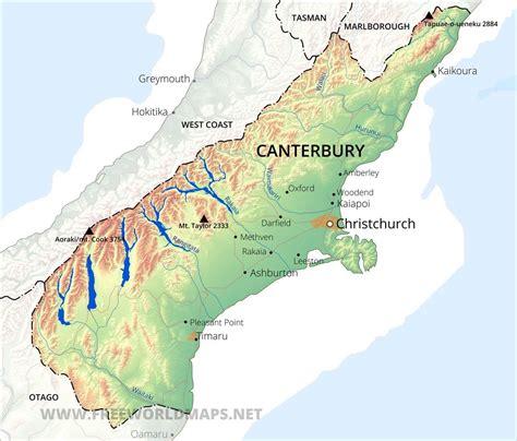 canterbury maps nz