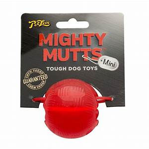 Petlove mighty mutts rubber ball mini tough dog toy feedem for Really tough dog toys