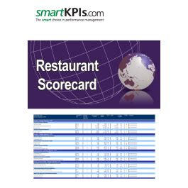 restaurant scorecard pre populated excel template