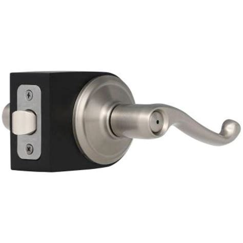 schlage flair satin nickel bed and bath lever