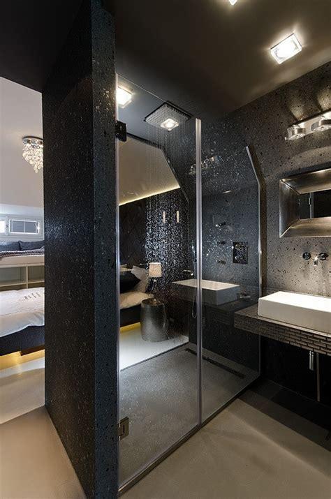 small tiny minimalist black  white apartment  prague