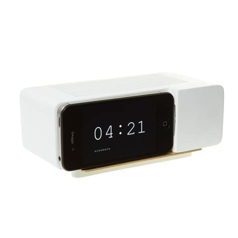 where is alarm on iphone alarm dock iphone 4 4s wood areaware touch
