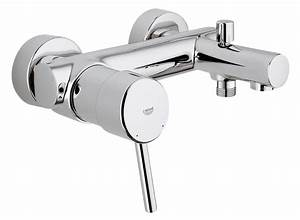 Grohe Concetto Küchenarmatur : grohe concetto wall mounted 1 2 inch single lever bath shower mixer ~ Watch28wear.com Haus und Dekorationen