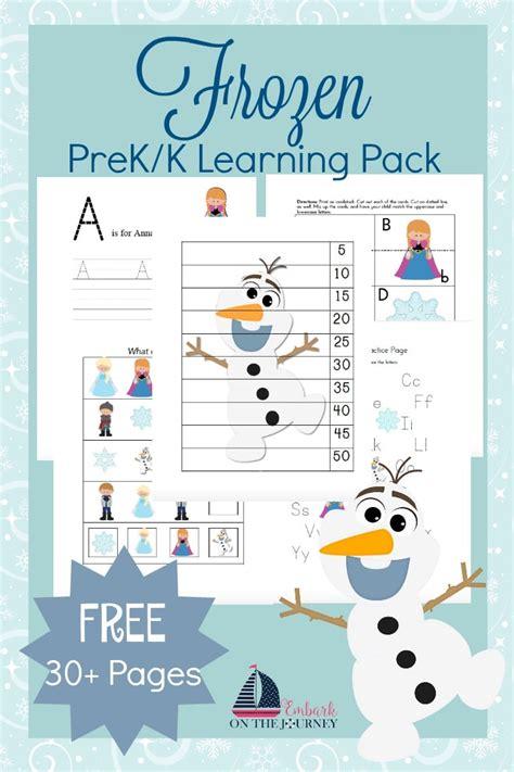 frozen prek learning printables  homeschool deals