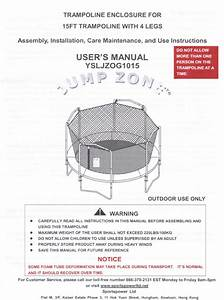 Combo Manual For The 15 U0026 39  Jump Zone Model Ysljzog1015