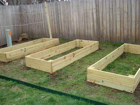 wood garden bed plans plans