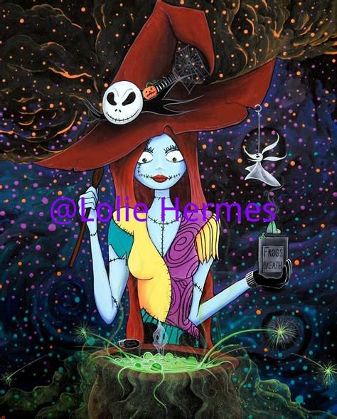 Background And Sally by Sally Skellington The Witch Nightmare Before