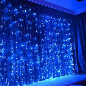 Torchstar, Extendable, 9, 8ft, X, 9, 8ft, Led, Curtain, Lights, Starry, Christmas, String, Light, Indoor