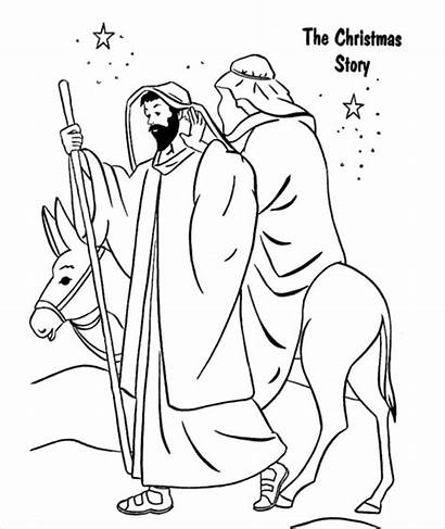 Coloring Christmas Printable Religious Pages Google Ms