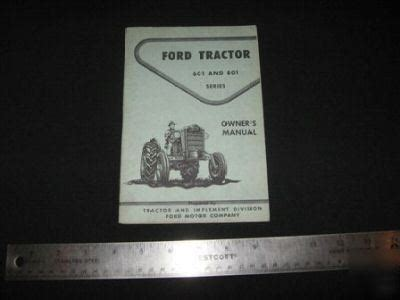 ford   series tractor owners operators manual