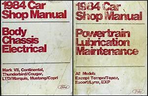 1984 Ford Mustang And Mercury Capri Wiring Diagram Original