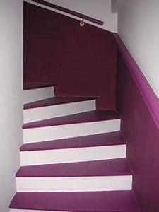 Décoration D Escalier Intérieur : escalier violet ~ Nature-et-papiers.com Idées de Décoration