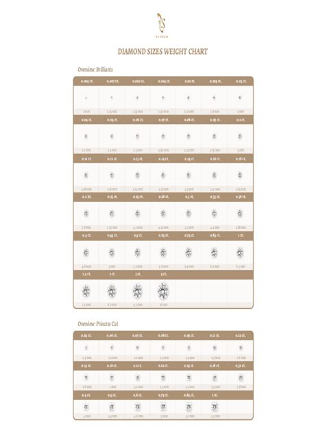diamond size chart   templates   word excel