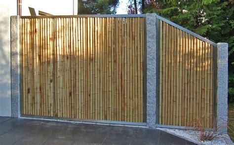 Sichtschutz Fuer Die Terrasse Aus Bambus Oder Aus Kunststoff by Bambuszaun Und Sichtschutz Bambusbasis