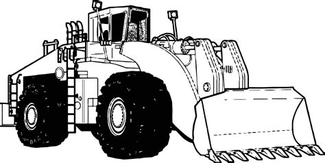 Puppy, dog, wolf, kitten, unicorn, coloring pages for kids, my little pony. Bulldozer Perspective Coloring Page | Wecoloringpage.com