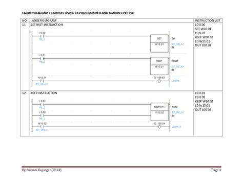 Omron Plc Diagram by Omron Ladder Programming