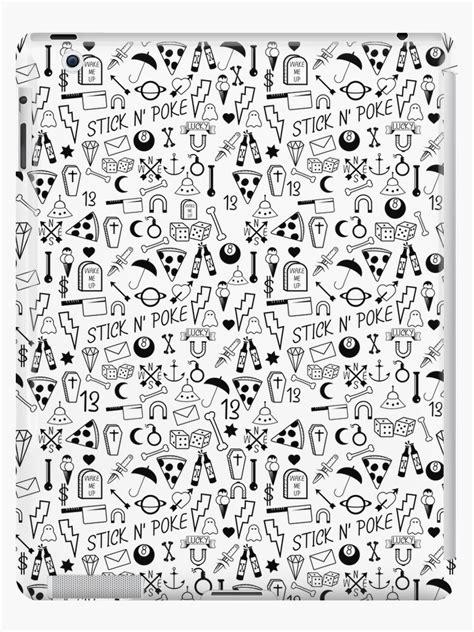 """Stick and Poke Tattoo"" iPad Case & Skin by piedaydesigns"