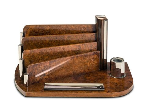 You are viewing a gorgeous and unique s shaped art deco coffee table in walnut. An Art Deco burr walnut and chrome desk stand, 44 cm wide - Writing - Desk Accessories ...