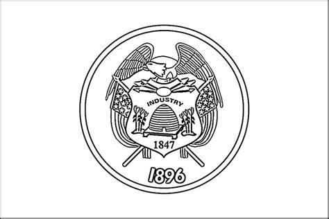 Utah Flag Coloring Page