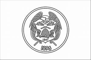 State Flag Coloring Pages Utah Page Purple Kitty Grig3org