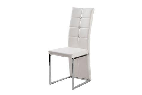 acheter cuisine complete chaises design mona simili cuir et acier chromé blanc