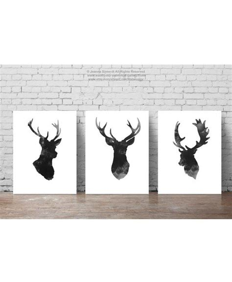 Product Of The Week Minimalist Plate Set From Metaphys by Deer Set Of 3 Gray Minimalist Drawing Black Antlers