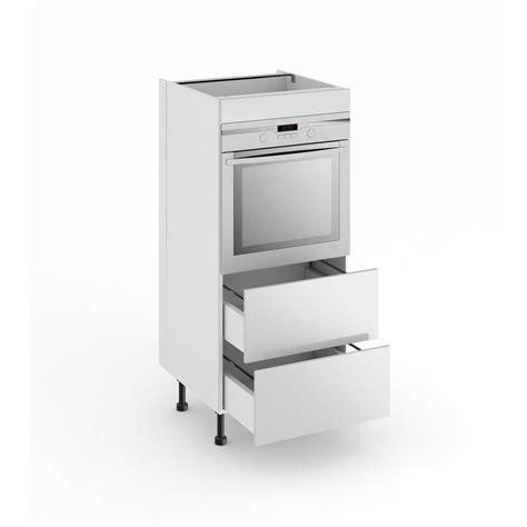 colonne four cuisine demi colonne de cuisine pour four avec 2 tiroirs lumio