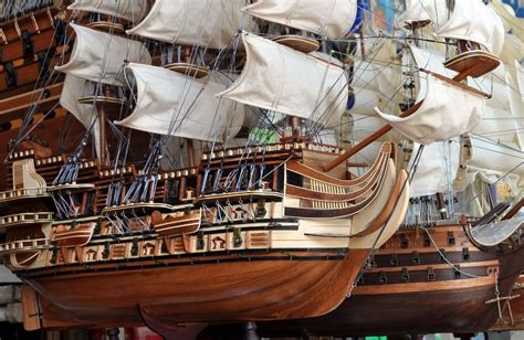 wooden model ship kits high quality parts