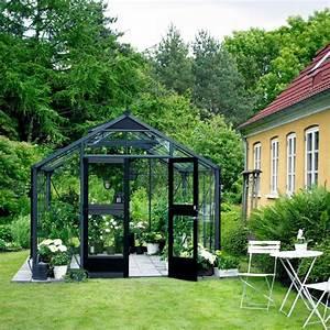 Serre De Jardin 88m Anthracite Et Verre Horticole