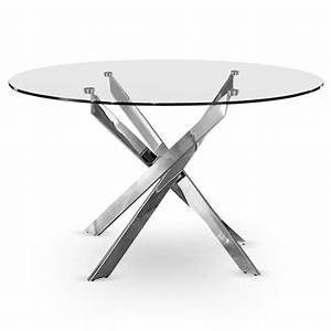 Table En Verre Ronde : table croisade chrome achat vente table a manger seule table croisade chrome verre cdiscount ~ Teatrodelosmanantiales.com Idées de Décoration