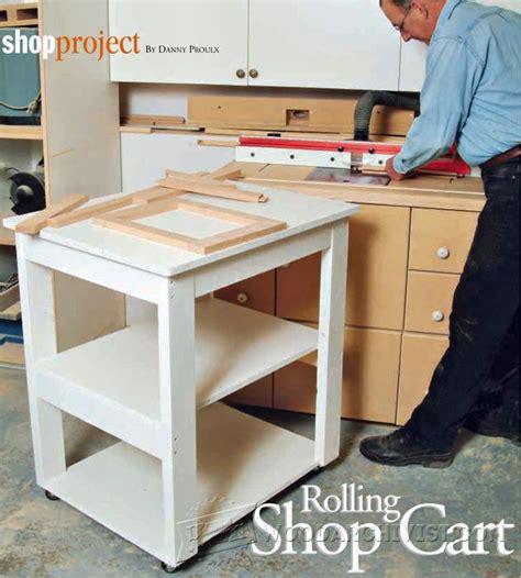 rolling shop cart plans woodarchivist