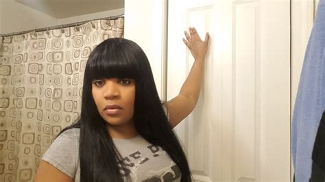 Quick Weave With Bangs