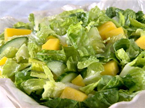picture of green salad green salad with dressing recipe sandra lee food network
