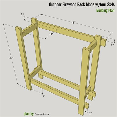 firewood rack plans built  xs