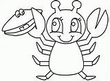 Coloring Lobster Dibujos Colorare Disegni Mango Manualidades Colorear Aragosta Langostas Cocktail Pinch Langosta Popular Crab Justapinch Coloringhome sketch template