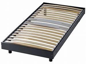Sommier À Lattes Conforama : sommier en kit 90x190 cm newsomkit coloris noir vente de ~ Dode.kayakingforconservation.com Idées de Décoration