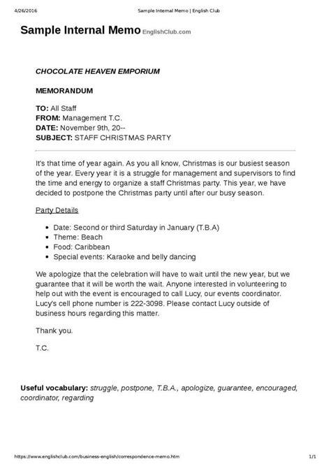 business memo     business letter
