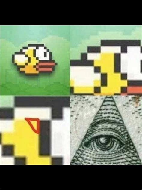 flappy bird illuminati flappy bird know your meme