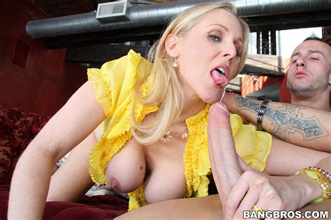 Glamorous Blond Cougar Julia Ann Humping On Hugo Milf Fox