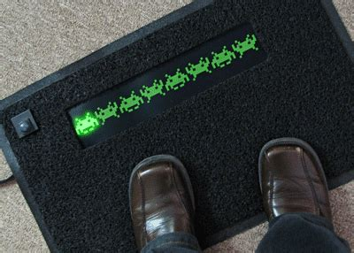 Led Doormat by Space Invaders Led Doormat Cool To Wipe Your On