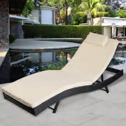 rattan lounger recliner sun bed chair garden furniture big
