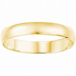 14k Yellow Gold 4mm Plain Wedding Band Wedding Bands