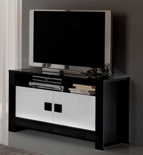 meuble de cuisine laqué meuble tv pisa laquée bicolore noir blanc noir blanc