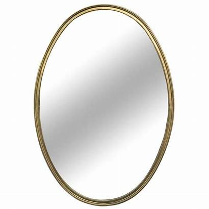 Oval Mirrors Shaped Mirror Brass French Shape
