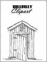 Hillbilly Clipart Coloring Rustic Primitive Country Pages Shacks Clip Printable Garden Bluefoxfarm Way Farm Printables Spray Park Hill Bringing Adult sketch template