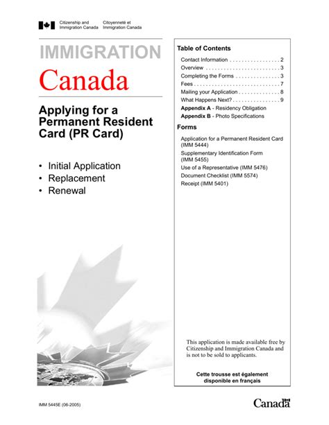 permanent resident form canada pr card renewal application checklist poemview co