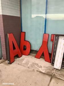 I found the coolest vintage building sign lettersfor free for Building letters