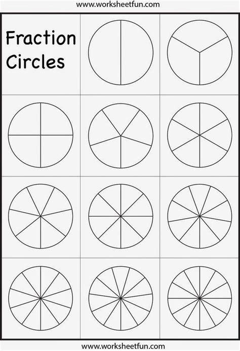 fraction worksheets images  pinterest math