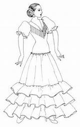 Flamenco Costume Raquel Spanish Coloring Designs Lopez Pages Drawings Dance Dancers Dancer Mosaic Costumes Danza Forthcoming sketch template